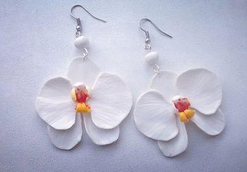 серьги орхидея