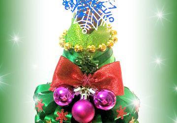 """Съмный чехол """"Новогодняя елочка"""" для новогоднего напитка"""