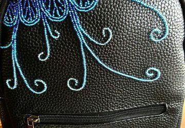 Эксклюзивный рюкзак ручной вышивки бисером, в единственном экземпляре