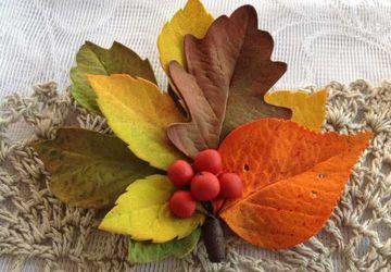 Мастерим брошь Осенний букет