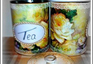 Емкости для сыпучих(чая и кофе).