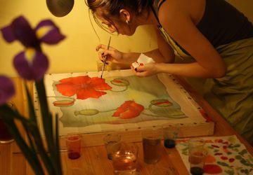 Батик. Мастер-класс по росписи натуральных тканей: шейный платок