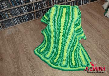 Вязаный плед, одеяло, коврик