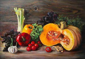 Курс масляной живописи: «Большие форматы.Натюрморт с овощами»