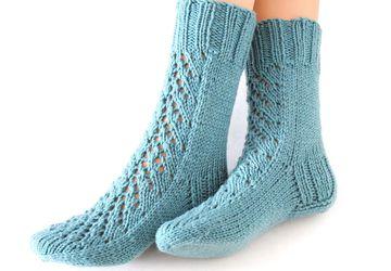 "Носки-домашняя обувь ""Ажур"""