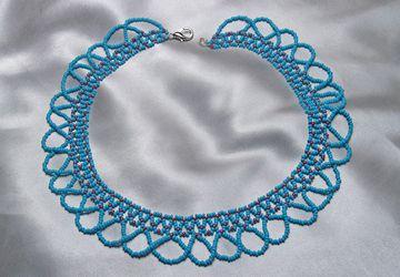 """Ожерелье из бисера """"Морская волна"""""""
