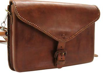 Мужская кожаная сумка для ноутбука Mexico 0015-М. Ручная работа