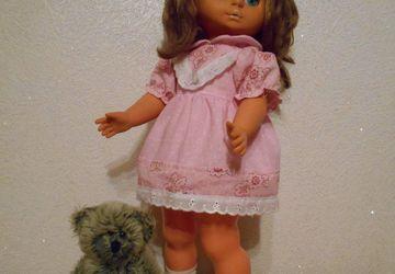 Платье на куклу 45 см.