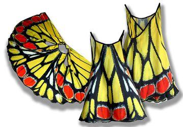 Сарафан, имитирующий крылья бабочки, фотопринт