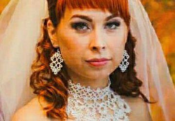 Эффектное украшение для невесты