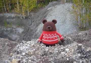 """Вязанный гималайский медведь """"Ванька"""""""