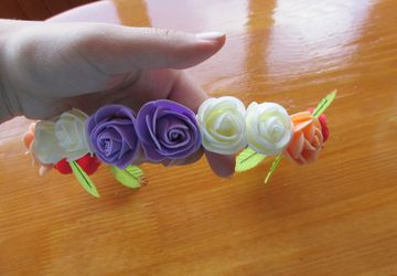 Венок для головы из цветов