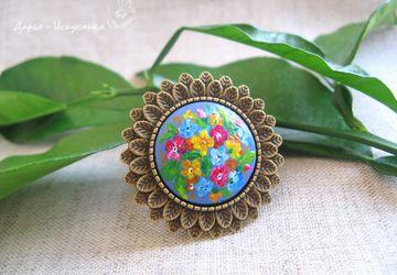 """кольцо """"Пышное цветение"""". Готоваяработа"""
