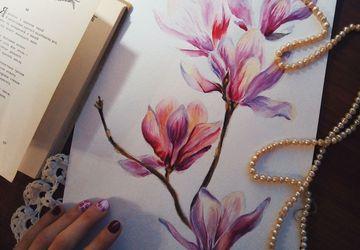 """Картина """"Акварельные цветы"""""""
