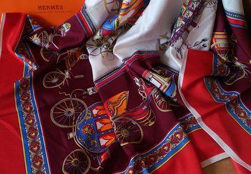 Шелковый платок Гермес с колесницей