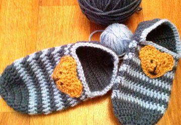 Тапочки-следочки для малыша