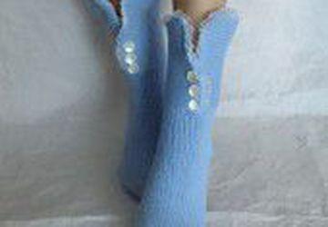 Носки-домашняя обувь с кружевом