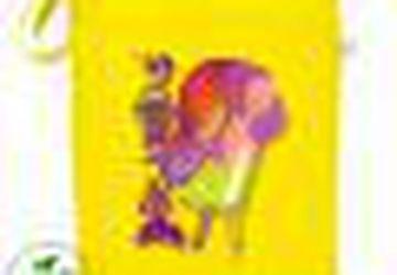 """Яркая эко-сумка с иллюстрацией """"Хамелеон"""""""