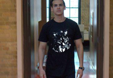 """Мужская футболка с авторским принтом """"Рысь"""""""