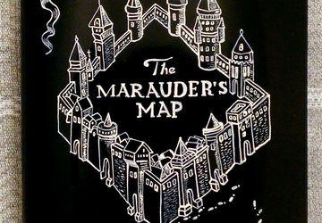 """декоративная тарелка """"Marauder's Map"""" - """"Карта мародеров"""""""