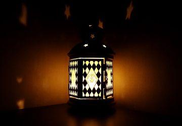Витражный фонарик (подсвечник) Ромбы