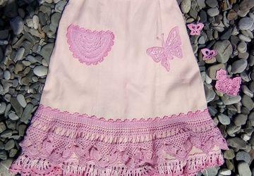 юбка Розовое бохо