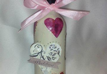 Свадбеная бутылка вина