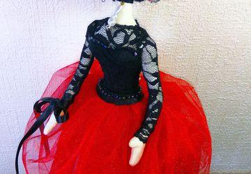 """Интерьерная кукла-тряпиенс """"Балерина"""""""