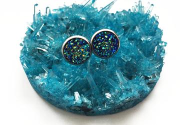 "Серьги ""Blue Crystal"""