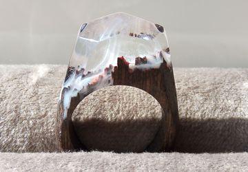 Деревянное кольцо №2