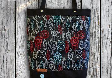 """Текстильная сумочка """"Foliage"""" (черная)."""