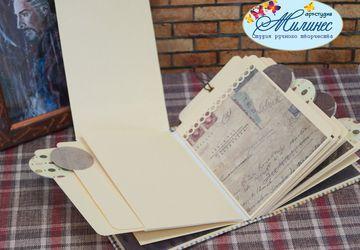 Скрапбукинг - Блокноты, обложки (мастер-класс)