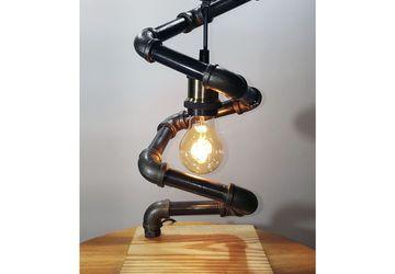 Лампа настольная в стиле Лофт (loft Steampunk) с лампой эдисона - Спираль