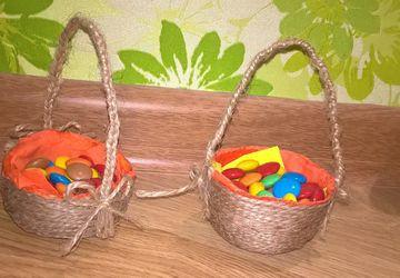 Пасхальная корзиночка для сладостей