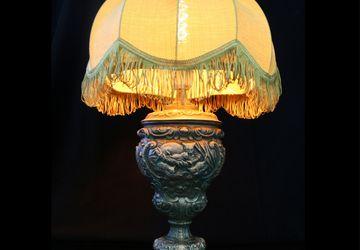 Настольная лампа в викторианском стиле!