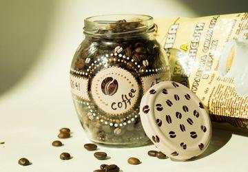 Расписная баночка для кофе