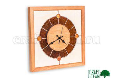 Часы настенные с витражом Тиффани - 2