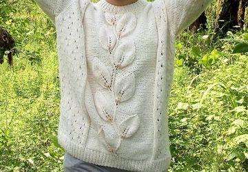 """Пуловер """"Нежность пиона"""""""