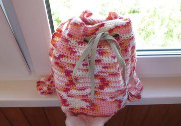 Рюкзак связанный крючком