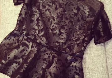 Блузка из эксклюзивной эко-кожи