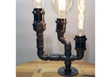 Лампа настольная с лампами эдисона в стиле Лофт - Толстый худой круглый