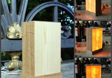 Огненная лампа, деревянный ночник светильник