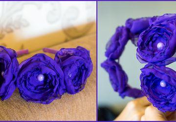 Ободок фиолетовый
