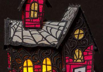 Ночник - домик Halloween