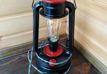 Лампа в стиле лофт из керосинки