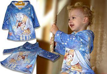 """Новогоднее платье-туника """"Мишка на севере"""""""