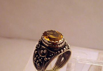 Перстень с цитрином