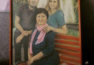 Портрет пастелью на картоне