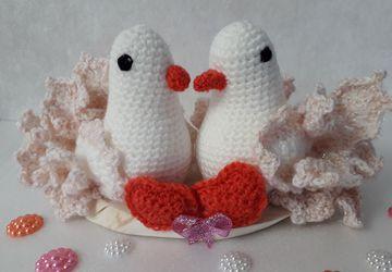 """Вязаные голуби"""" ЛЮБОВЬ И ВЕРНОСТЬ"""""""