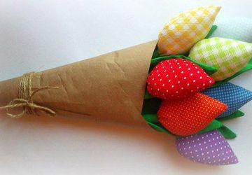 Текстильный тюльпаны